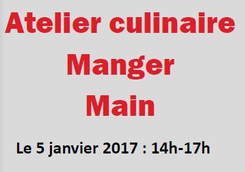 Cliquer sur le lien ci-dessous pour découvrir les informations sur l'atelier culinaire flyer-atelier-manger-main