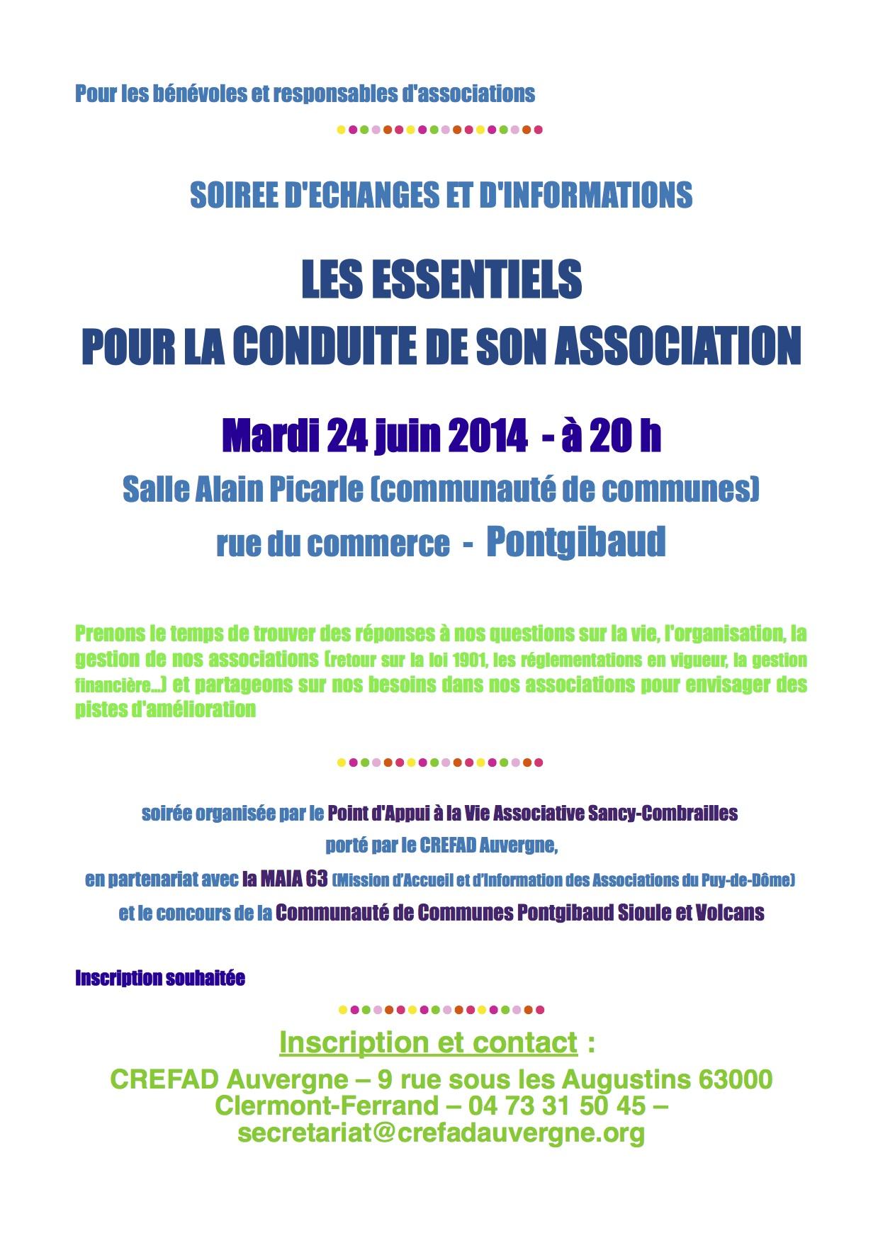 Soirée Vie Associative Pontgibaud 24 juin14 image